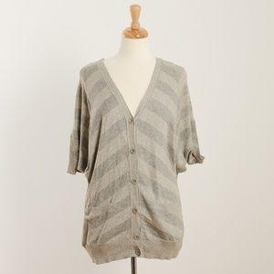 [Lucky Brand] cotton short sleeve cardigan
